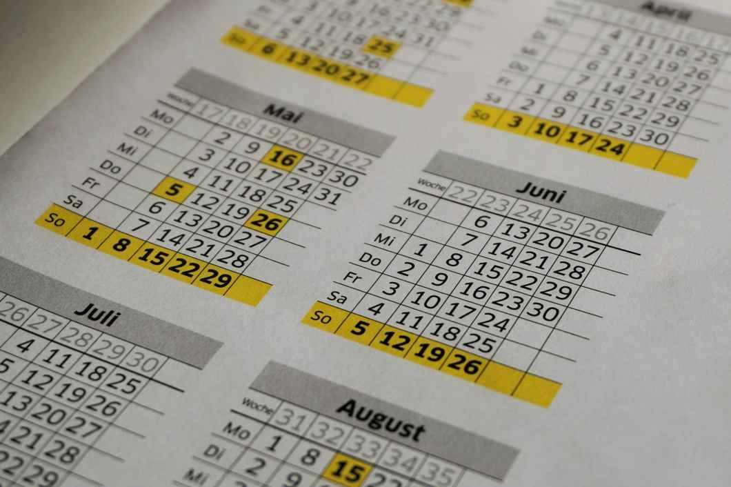 administration balance blur calendar